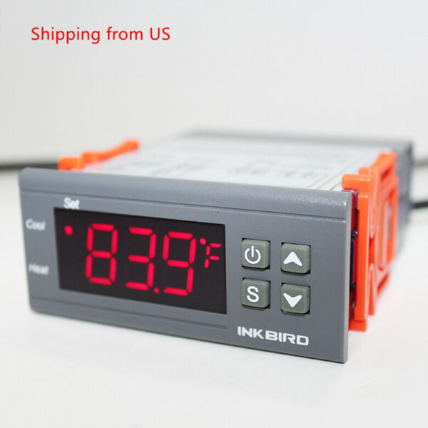 Inkbird ITC 1000 110V 10A Temperature Controller ON OFF Thermostat Heat Cool US $15.99