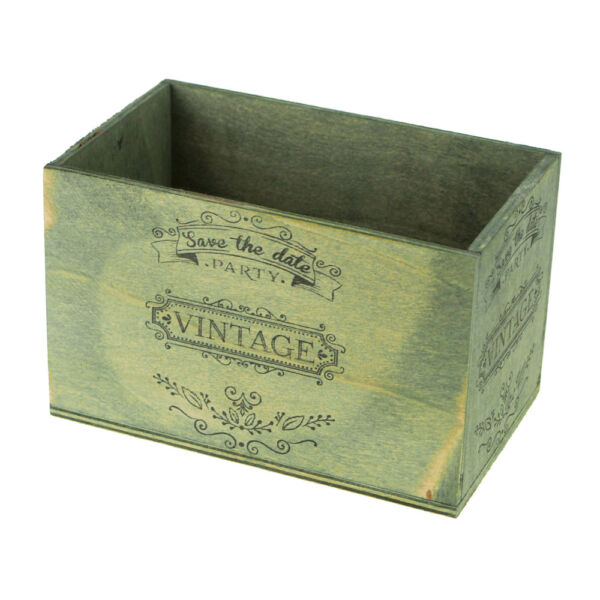 Save The Date Wedding Decor Vintage Wooden Crate 6-14-Inch