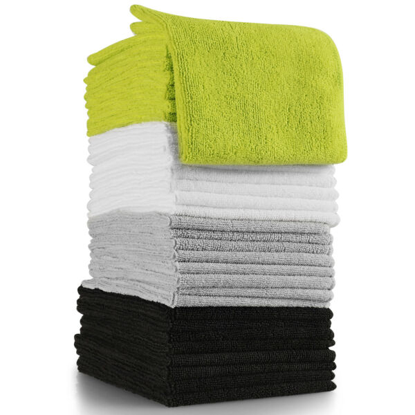 Microfiber Cleaning Cloth Set of 32 Towel Rag Car Polishing No Scratch Detailing $17.90