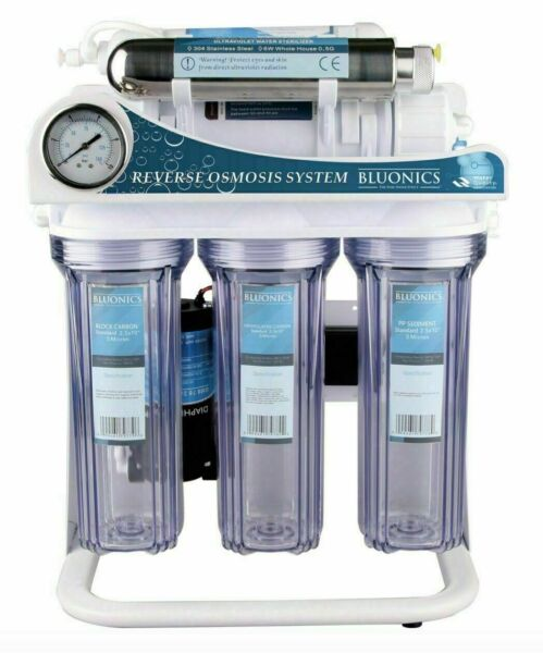 Reverse Osmosis Ultraviolet Water Filter System UV Sterilizer RO 6 Stage 100 GPD