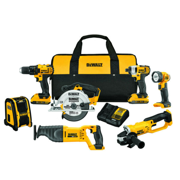 DeWalt DCK720D2 20V MAX Lithium-Ion Compact Cordless 7-Piece Tool Combo Kit New
