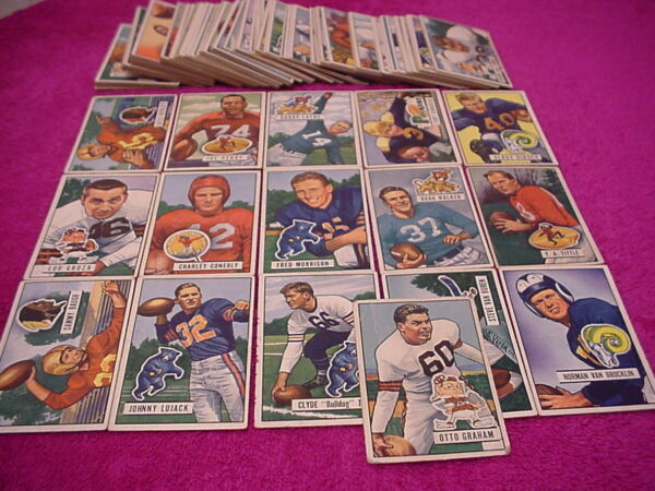 Bowman Football Card Set Lot 1951 (125 of 144)