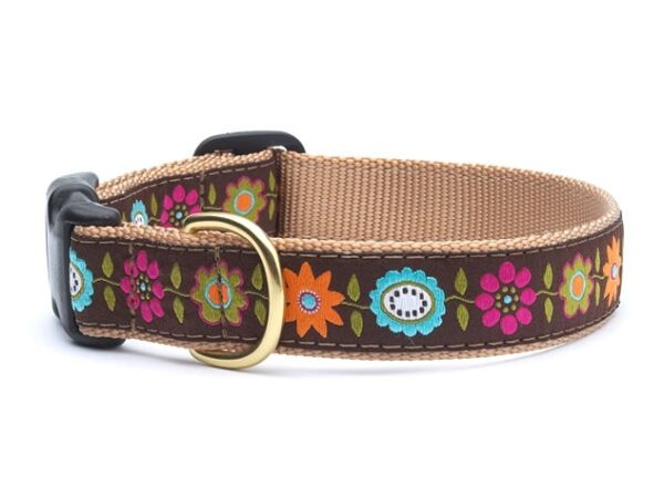 Up Country Dog Design Collar Made In USA Bella Floral XS S M L XL XXL $22.00