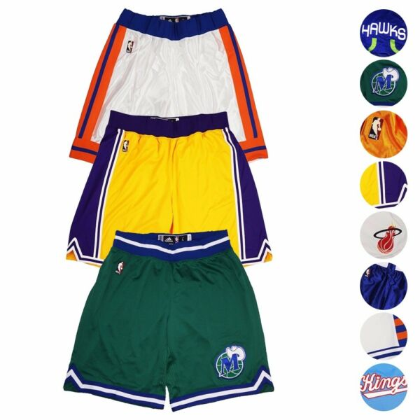 NBA Adidas Authentic On-Court Hardwood Classics Climate Performance Shorts Men's