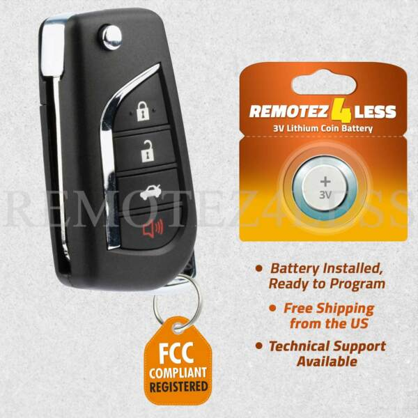 Keyless Entry Remote for 2007 2008 2009 2010 Toyota Camry Car Key Fob Control
