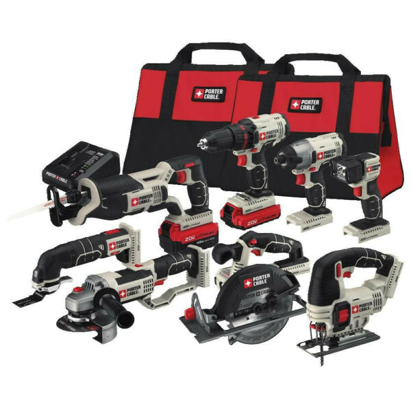 Porter-Cable PCCK619L8 20V MAX Cordless Lithium-Ion 8-Tool Combo Kit New
