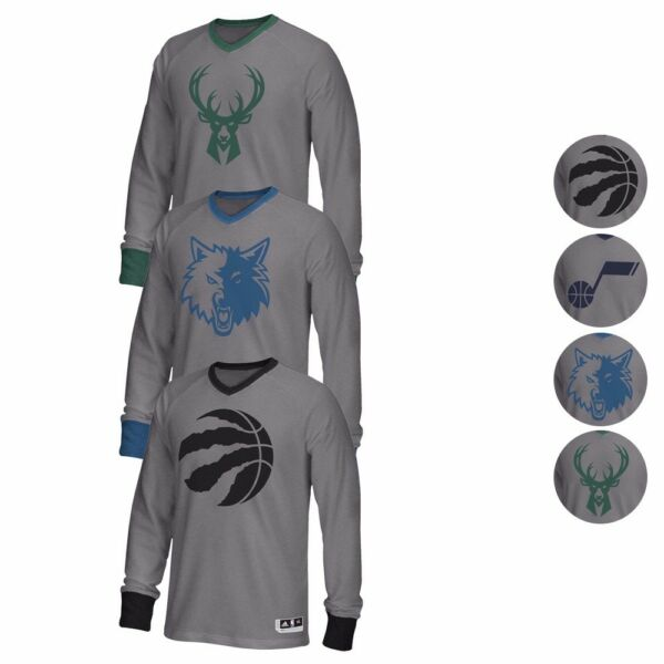 NBA Adidas 2016 Authentic On-Court Christmas Day Shooter Long Sleeve Shirt Men's