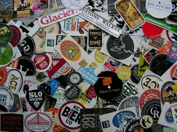 NEW 50 Sticker Lot! ~Craft Beer Brew Label Brewery Distillery Pub FREE SHIPPING!