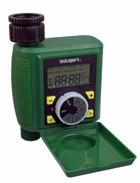 Digital water Programmable Auto On Off Timer with Rain Delay + Manual Control 07