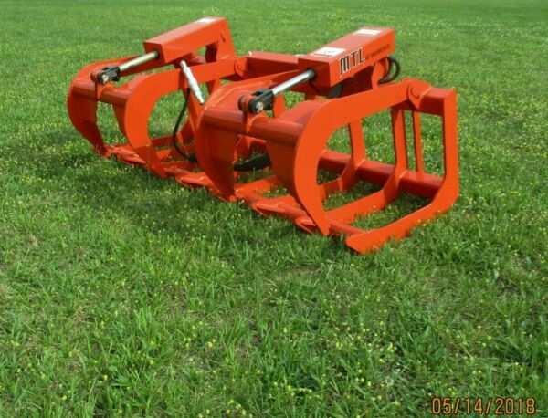 MTL Attachments HD 72 Skid Steer Root Grapple Twin Cylinder-Universal fit
