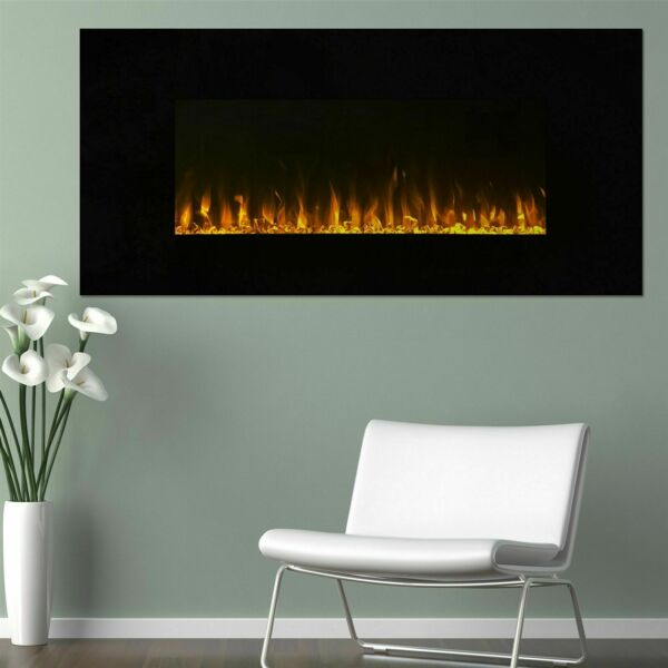 Northwest LED Fire and Ice Wall Mount Fireplace Remote and Timer 54 Inches