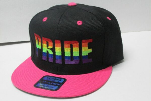 LGBT PRIDE LOGA EMBROIDERED Snap-back Hat Cap  REGISTER O  2