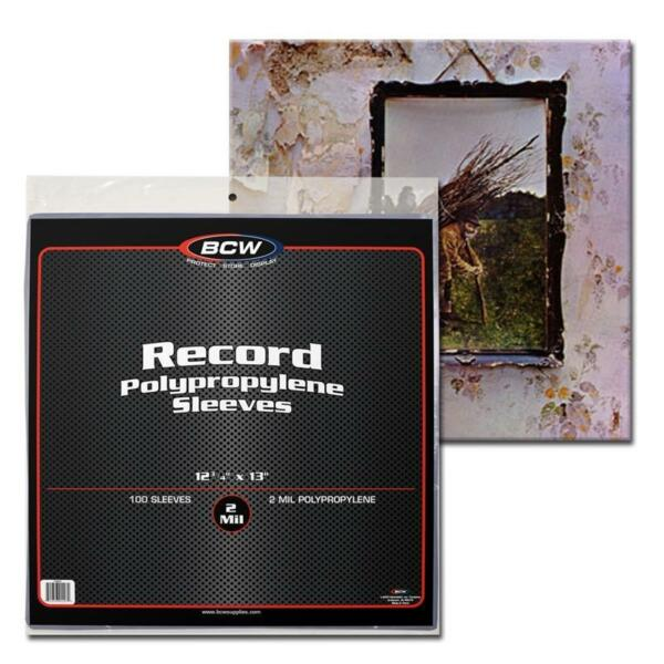 1 Pack 100 Vinyl / Record 33 rpm Sleeves 12