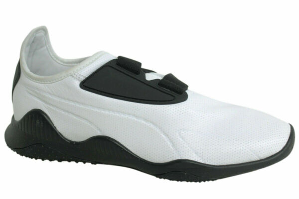 Puma Mostro NYC White Black Strap Up Mens Trainers 363624 01 D58