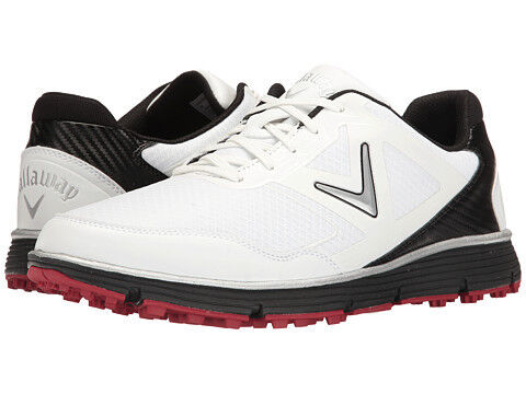 Callaway Balboa Vent Spikeless Golf Shoes White/Black 12 2E