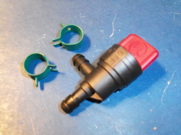 NEW 90 DEGREE SHUTOFF WITH CLAMPS FITS BRIGGS SNOW BLOWERS TILLERS 494769 114829