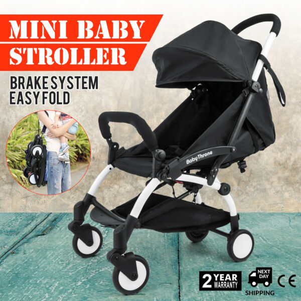 New Upgrade mini Baby Stroller Travel System small Pushchair infant carriage flo $89.99