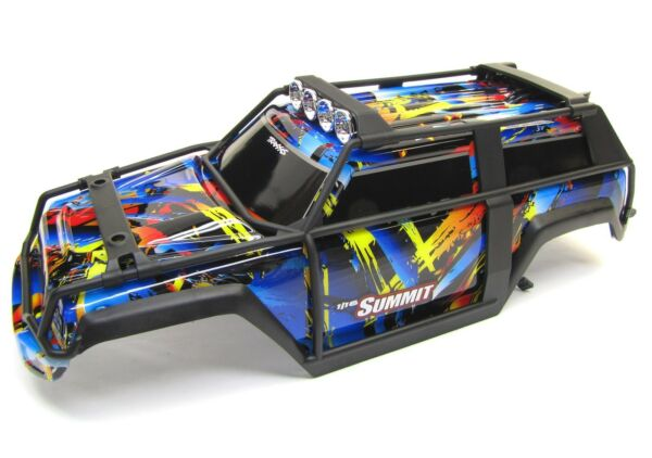 1 16 Summit BODY Painted Shell Cover Lights Decals Rock n Roll Traxxas 72054 5