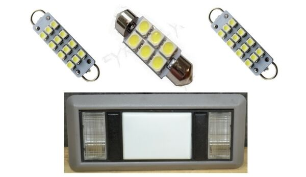2 Map 1 Dome white LED Interior lights for 1988-1998 Chevy SilveradoGMC Sierra