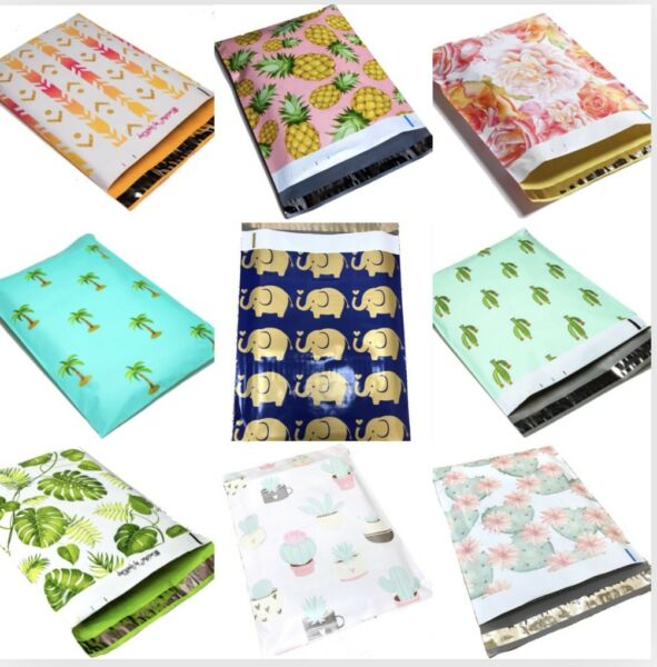 Designer Poly Mailers Plastic Envelopes Shipping Bags Custom #SmileMail® $11.95