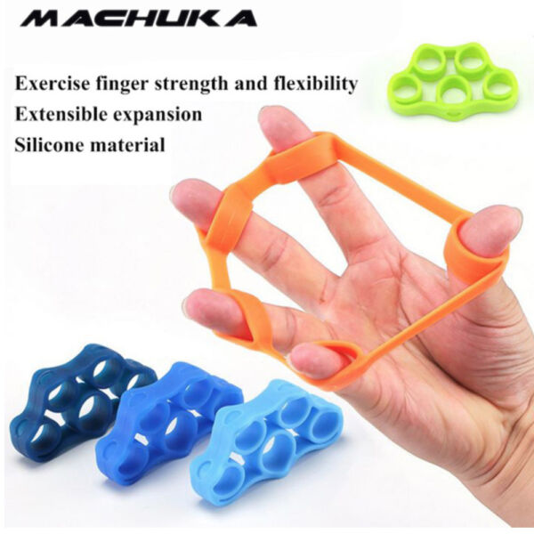 3Pcs Power Exercise Hand Grips Finger Resistance Band Forearm & Wrist Strength W