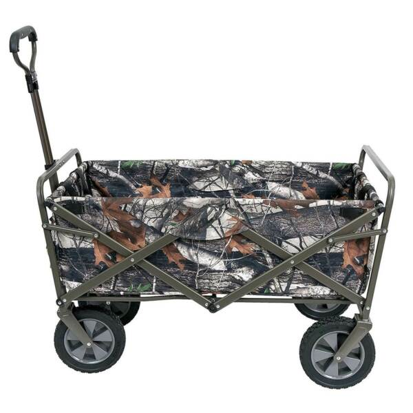 Mac Sports Collapsible Folding Outdoor Garden Utility Wagon Cart Camouflage