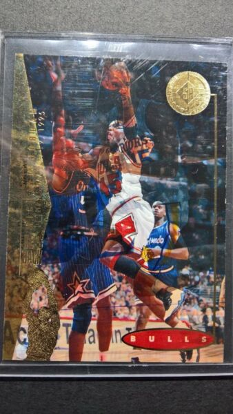 11 Overprint 1995 Upper Deck SP  #41 MICHAEL JORDAN over card #71