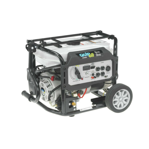 Quipall Dual Fuel Gas Portable Generator 5250DF w Electric Start New