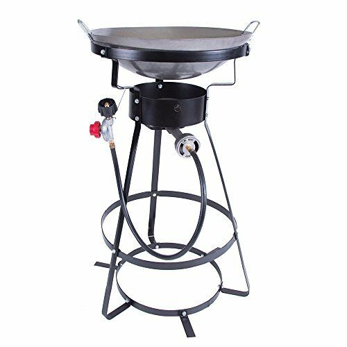 Single Burner Outdoor Camp Stove with 20 lbs Tank Cast Iron Burner