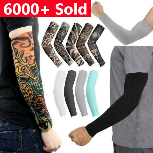 6 pcs Tattoo Cooling Arm Sleeves Cover Basketball Golf Sport UV Sun Protection $7.49
