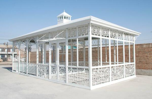 TUBULAR ESTATE HAND MADE CUSTOM IRON GAZEBO SOLARIUM GREENHOUSE #LC10
