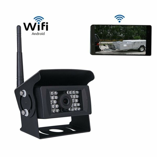 WiFi Digital Wireless Truck Bus Rear View Backup Camera For iPhone Android IOS