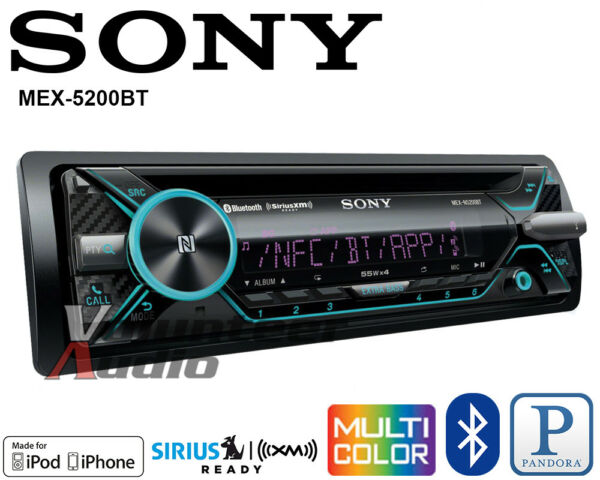 Sony Car Stereo Radio Bluetooth CD Player Iphone Pandora Android Songpal AUX USB