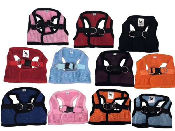 Dog Puppy Soft Harness Vest - Breathable Mesh - 11 Colors - S M L XL - CLEARANCE $9.95