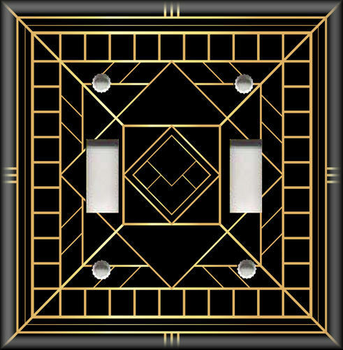 Metal Light Switch Plate Cover Art Deco Home Decor Black And Gold Art Decor 21