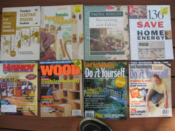 LOT OF 8 DO IT YOURSELF MAGAZINES ~ HANDY ~ HOME REPAIRS ~ WOOD ~ ELECTRIC