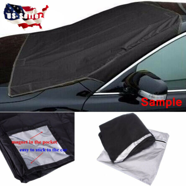 Magnet Car Windshield Cover Sun Shade Protector Winter Snow Ice Dust Frost Guard