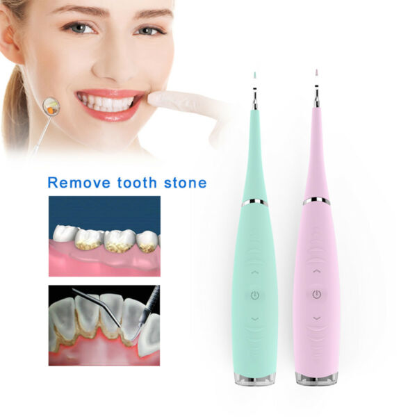 sonic Dental Scaler Teeth Whitening Tool Tartar Plaque Stains Remover CA