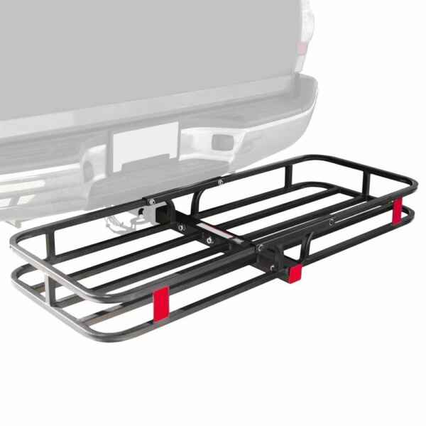 Apex CC 1951 53quot; Hitched Mounted Steel Cargo Carrier Basket 500 lb Cap $108.99