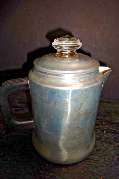 Vintage Sears Better Medium Weight Aluminum Coffee Pot Percolator Camp Travel