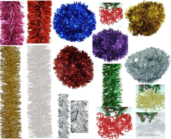 Luxury ChunkyThick Xmas Tinsel Garland Tree Home Christmas Party Decorations