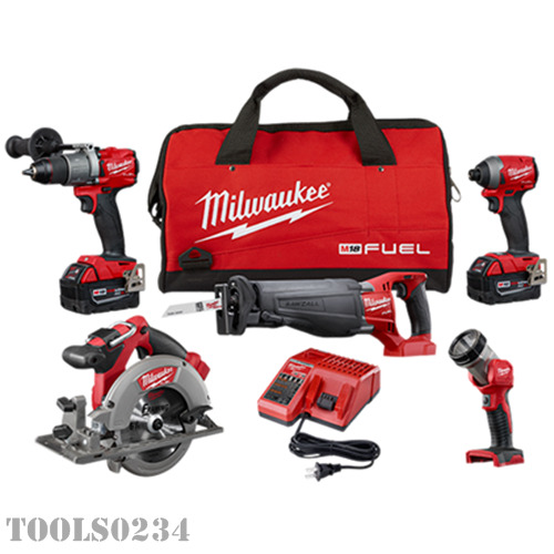 Milwaukee M18 FUEL Li-Ion 4-Tool Combo Kit 2997-25 Drill Sawzall Impact Driver