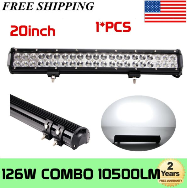 20inch Tri row 288W LED Work Light Bar Combo Offroad 4WD Truck ATV 22quot; 120W 126W