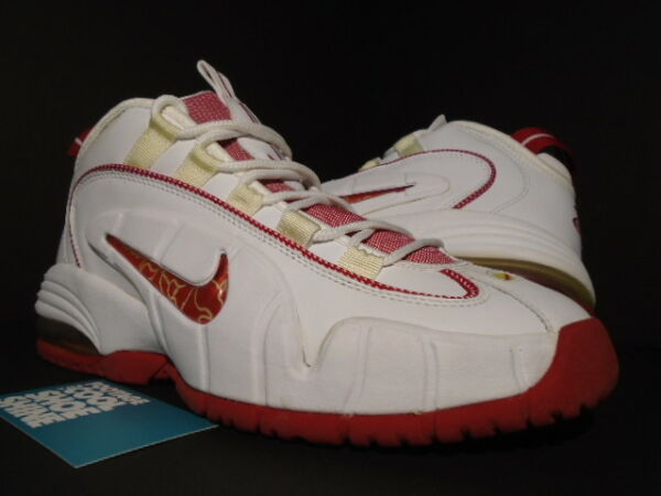 2005 NIKE AIR MAX PENNY ONE 1 WHITE VARSITY RED FOAMPOSITE 311089-161 NEW 9