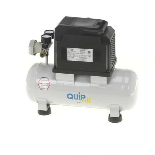 Quipall 2-.33 Oil Free Compressor 13 HP 2 gallonSteel Tank New