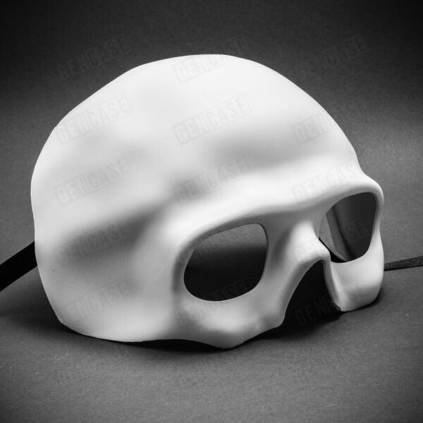 NEW Scary Skull Mask for Halloween Venetian Masquerade Half Face White