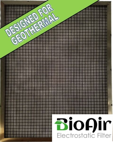 29 1 2 x 31 1 2 x 1 BioAir Permanent Washable A C Furnace Filter Geothermal $124.99