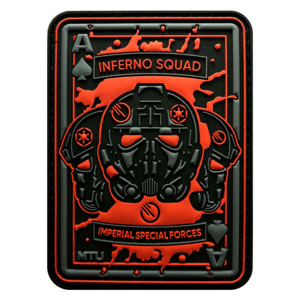 Inferno Squad Dead Card Tactical Patch [3D-PVC Rubber-3.5 X 2.5 inch -BP4]