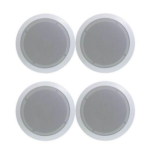 Pyle 8quot; 1000W Round Flush Mount In Wall Ceiling Home Speakers 4pk PDIC81RD $93.99