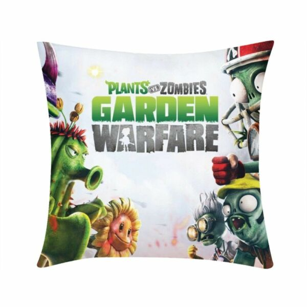 Plants vs Zombies Custom Cushion Cover Square Throw Pillow Case Sofa Couch 16 20 $9.99